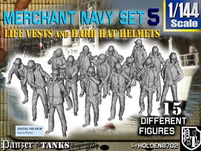 1/144 Merchant Navy Set 5 in Smooth Fine Detail Plastic
