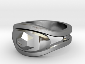The Eye Ring in Polished Silver