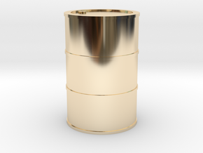 Oil Barrel 1/45 in 14k Gold Plated Brass