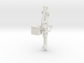 1:18th Scale M237D Heavy Machine Gun  in White Natural Versatile Plastic