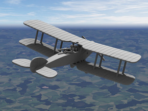 Bristol F.2B Fighter in White Strong & Flexible: 1:144