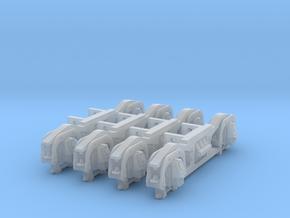 4PK FUD G SCALE PRR 2DT4 TENDER TRUCK SIDEFRAMES in Smooth Fine Detail Plastic