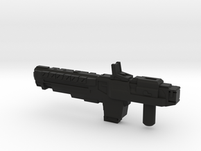"""""""VINDICATOR"""" Transformers Weapon (5mm post) in Black Strong & Flexible"""
