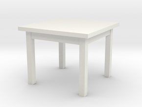 1:48 Table 38x38x30(NotFullSize) in White Natural Versatile Plastic