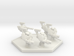 UWN Army Regular Trooper in White Natural Versatile Plastic