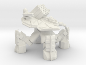 Quad Mech With Missiles in White Natural Versatile Plastic