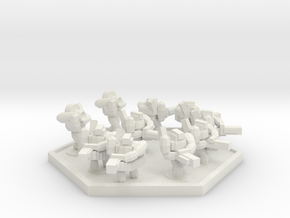 UWN Army Planetary Guard Squad (Hex) in White Natural Versatile Plastic