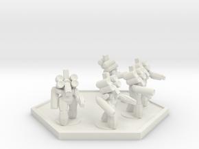 UWN Army Assault Suit Squad (Hex) in White Natural Versatile Plastic