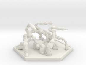 SWARM Shooter Hoard (Hex) in White Natural Versatile Plastic