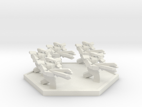 RF Flightless Squad (Hex) in White Natural Versatile Plastic