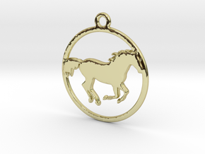 Horse Pendant in 18k Gold Plated Brass