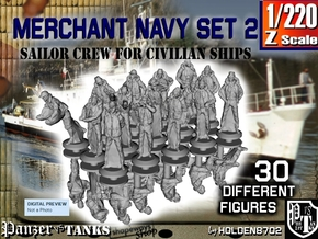 1-220 Merchant Navy Crew Set2 in Frosted Extreme Detail