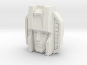 Skywarp Face, Sunbow (Titans Return) in White Natural Versatile Plastic