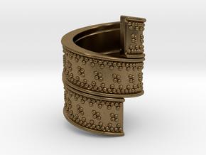 Beard Ring in Natural Bronze