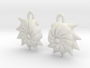 Cristellaria earrings in White Natural Versatile Plastic