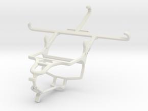 Controller mount for PS4 & Panasonic Eluga Turbo in White Natural Versatile Plastic