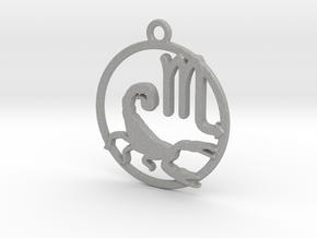 Scorpio Zodiac Pendant in Aluminum