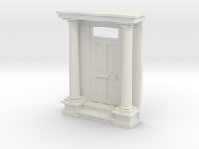 Entrance Portico N Scale in White Strong & Flexible