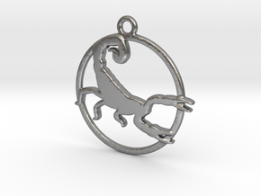 Scorpio Pendant in Natural Silver