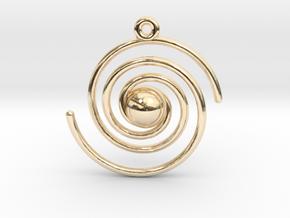 Spiral Galaxy in 14k Gold Plated Brass
