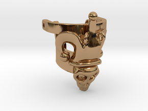 Jester Human Skull Ring Part 1 in Polished Brass