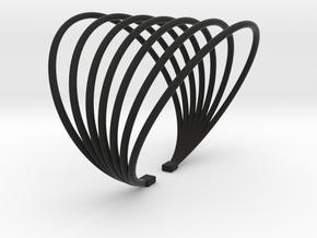 BRACELET MAGNETIC FIELD PLASTIC in Black Natural Versatile Plastic