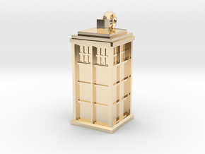 TARDIS key fob in 14k Gold Plated Brass