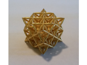 Flower Of Life 64 Tetrahedron Grid in Aluminum