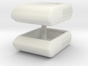 1/50th Air Conditioner unit for Semi trucks or RV  in White Natural Versatile Plastic