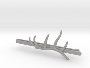 Elk Antler Tie Clip in Aluminum
