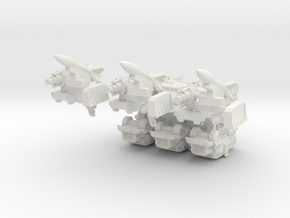 6mm Muskox Fire-Support MRAP (Half-Tracked) (6pcs) in White Natural Versatile Plastic