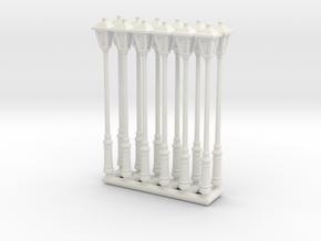 StreetLamp 01. HO Scale (1:87) in White Natural Versatile Plastic: 1:87 - HO
