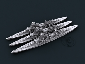 1/2400 WW2 German Navy 8in Heavy Cruisers in Smooth Fine Detail Plastic