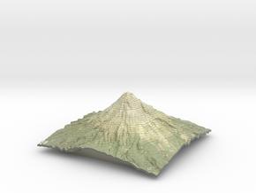"""Mt Taranaki Map - 9"""" Contour in Coated Full Color Sandstone"""