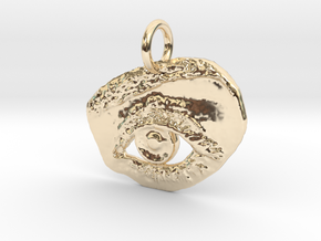 EyeKnow Pendant in 14K Yellow Gold