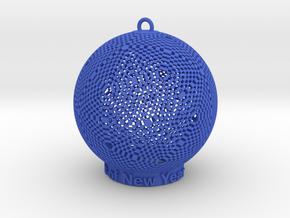 Pixel Light Of New Year in Blue Processed Versatile Plastic