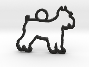 Shnauzer Mini in Black Natural Versatile Plastic