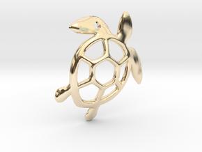 Sea Turtle Pendant in 14K Yellow Gold