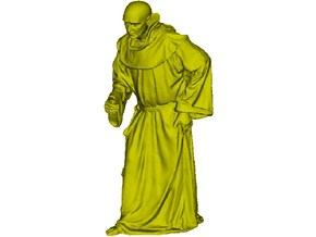 1/15 scale Catholic priest monk figure B in Smooth Fine Detail Plastic