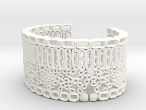 Leaf Anatomy Cuff - Science Jewelry in White Processed Versatile Plastic: Large