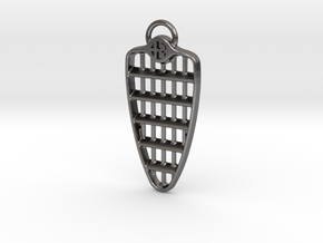 Alfa Romeo Grill Keyring  in Polished Nickel Steel