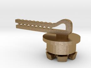 FLEURISSANT - Barrette in Polished Gold Steel