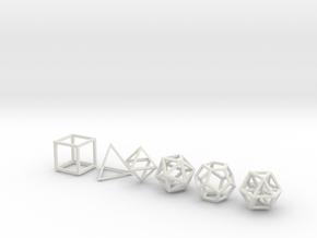 Metatronic Solids in White Natural Versatile Plastic