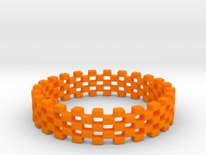 Continum Ring (US Size-5)  in Orange Processed Versatile Plastic: 5 / 49
