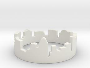 Columbus Night Ohio Ring (Size-5) in White Natural Versatile Plastic: 5 / 49