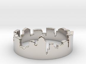Columbus Night Ohio Ring (Size-5) in Platinum: 5 / 49