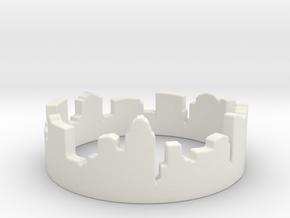Columbus Night Ohio Ring Size 4 in White Natural Versatile Plastic: 4 / 46.5