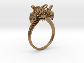 Snake head Ring in Natural Brass: 7.5 / 55.5