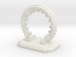 6mm Scale Portal - Space Gate in White Natural Versatile Plastic