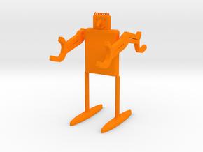 Desk-Droid v.2 in Orange Processed Versatile Plastic: Small